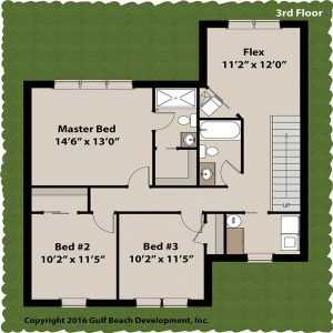 Breeze Harbor Coastal House Plan 3rd Floor