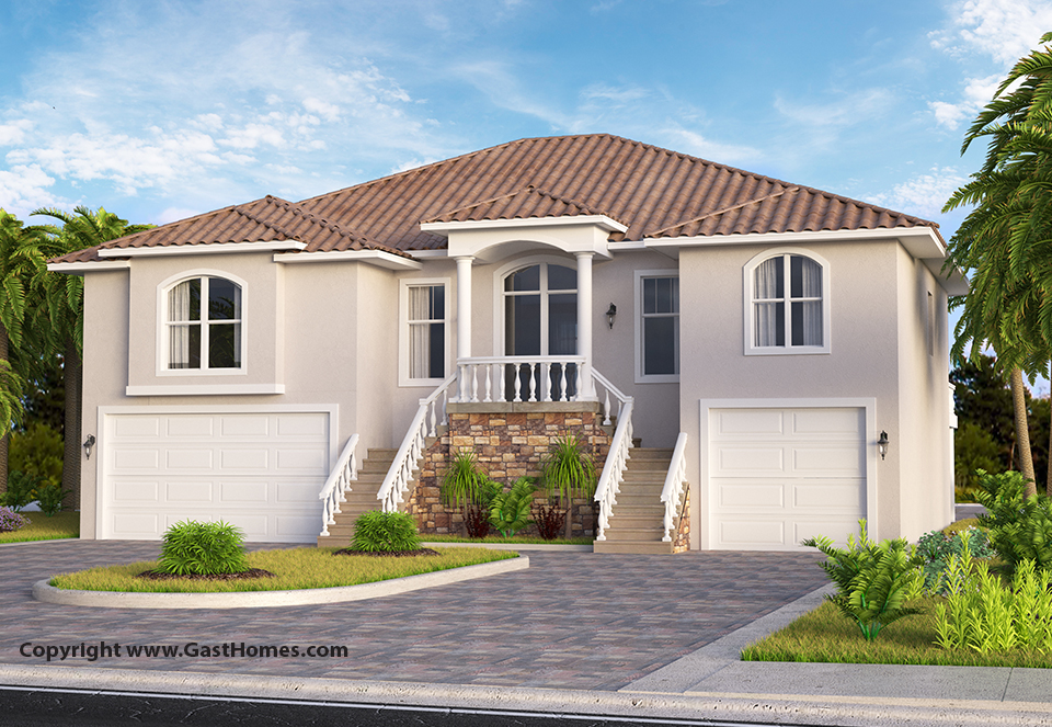 Shell Key Elevated House Plan