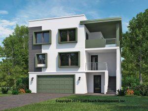 Ariel Island Coastal House Plan