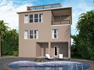 Dolphin Bay Coastal House Plan Rear