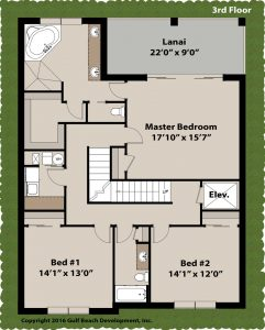 Island Key House Plan 3rd Floor