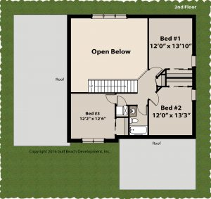 Windstone two story home plan 2nd floor