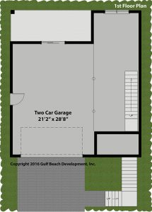 Breeze Harbor Coastal House Plan 1st Floor