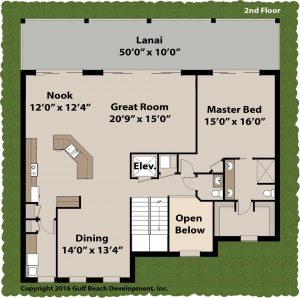 Passion Tide House Plan 2nd Floor
