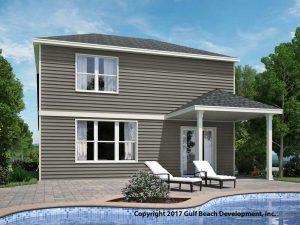Hunter Florida two story house plan rear