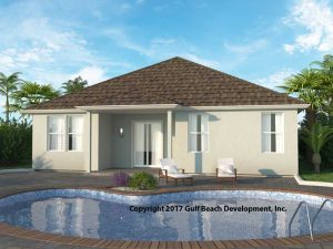 Newberry ICF home Builder plan rear