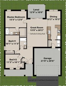 Royal Oaks Insulated Concrete Form home plans floor plan