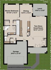 Sundowner two story house plan 1st Floor