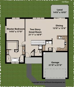 Windstone two story home plan 1st floor